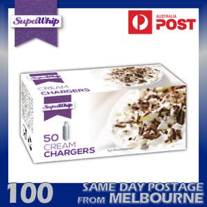SUPAWHIP CREAM CHARGERS 50 PACK X 2 (100 BULBS) - PURE NITROUS OXIDE N2O