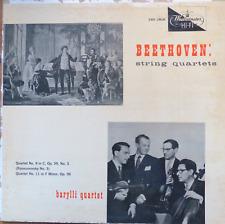 beethoven string quartets-barylli quartet- quartets 9+11- westminster 18636 EX