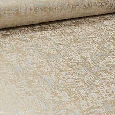 Holden Metallic Gold Beige Plain Industrial Concrete Stone Effect Wallpaper NEW