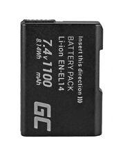 27126 ENEL14 EN-EL14 ENEL14A EN-EL14A VFB10602 Kamera Akku für Nikon 1100mAh