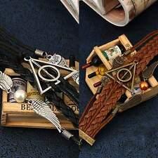 Hot Retro Harry Potter Deathly Hollow Infinity Owl Angel Wing Bracelet Jewelry