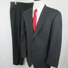 HUGO BOSS Galilei Sigma 2 Btn Gray Light Blue Pinstripe Suit 42R 37 X 31 Saks