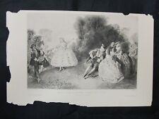 1800s Etchings Engraving - Melle Cochois Dansant Devant Ses Sceurs