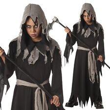 Death Grim Reaper Boys Child Halloween Horror Fancy Dress Kids Costume Age 4-9