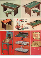 """1970 PAPER AD 2 PG NHL Official Hockey Game Regulation Rock """"Em Sock 'EM Robots"""