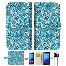 Seamless pattern with paisle Wallet TPU Case Cover For Sony Xperia M5 -- A022