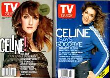 Tv Guide 1999 & 2002 - Celine Dion Collector Covers - New & Mint In Plastic