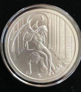 2020 Temptation of the Succubus - BU Finish 2oz .999 Fine Silver IN STOCK!