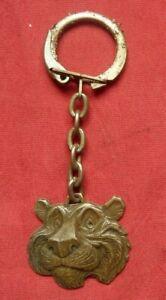 ancien Porte clé Key-ring TIGRE ESSO années 70, pétrole huile  Old Keychain
