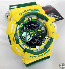 GA-400CS-9A Gelb Grün G-Schock Uhren 200m Analog Digital Resin Casio Herren