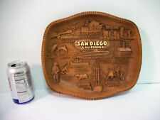 VTG MCM San Diego California Tray Faux Wood Multi Products Centennial Novelty