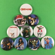 "Gremlins 1"" Button Pin Lot Joe Dante Phoebe Cates Gizmo Mogwai Christmas"