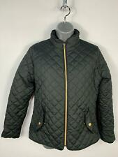 WOMENS PRIMARK BLACK DIAMOND QUILTED PADDED ZIP UP CASUAL COAT JACKET SIZE 10