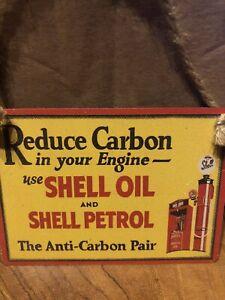 Shell Petrol  Colourful Metal Dangler Mini Hanging Sign,