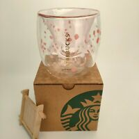 Hot Cat Paw Cup Coffee Mugs Sakura Pink Glass Mug Double Walled for Starbucks..