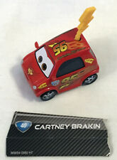 Disney Pixar Cars Cartney Brakin Chase Lightning McQueen Fan diecast Mattel 1:55