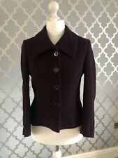 Womans Size 12 Alex And Co Burgemdy Deep Red Jacket Cropped Blazer Coat Smart