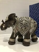 Shudehill Silver Xtra Large Iron Mirror Elephant Ornament Gift Figurine
