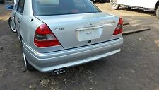Mercedes W202 C36 95-97 AMG ORIGINAL REAR BACK BUMPER COVER COMPLETE SILVER