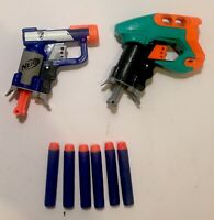 2 X Nerf Guns, 1 Is Nerf N-Strike Elite Jolt - Nerf Blaster + 6 Used Darts