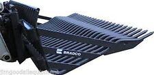"""84"""" Rock Bucket HD Bradco Fits Larger Skid Steer-Track Loaders, 3"""" Spacing"""