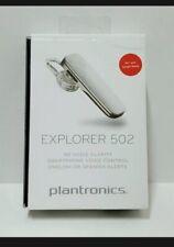 New listing Plantronics Explorer 502 Wireless Bluetooth Headset White-Free Ship-Open Box Oem