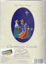 """Derwentwater Christmas Cards Counted Cross Stitch Kit, """"WeThree Kings"""""""