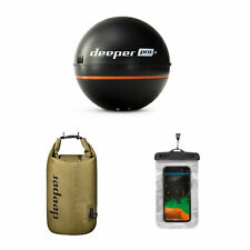 Deeper Pro+ Castable Fish Finder Sonar Bundle Dry Bag and Phone Case (Open Box)
