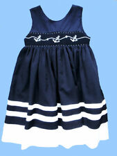 Girls Royal Child Smocked Anchors Nautical Beach Portrait Dress 4T
