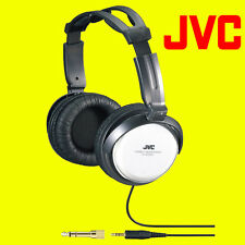 JVC HA-RX500 FULL SIZE EXTRA BASS STEREO OVERHEAD DJ HEADPHONES BLACK / SILVER