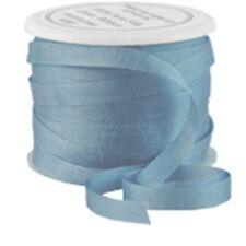 11 YDS (10 M) EMBROIDERY SILK RIBBON 100% SILK 4MM - SLATE BLUE - by THREADART