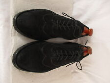 Armani Mens Black Suede Wingtip Dress Shoes Size 42 Euro 8.5D US Italy Made