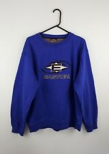 Vintage Retro para hombre Azul Easton Sudadera Jumper Reino Unido overhead de Deportes Atléticos L