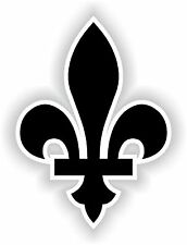 Quebec Fleur de Lys Canada Autocollant vinyl Sticker Black decal Car Tablet Door