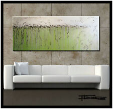 Large ABSTRACT MODERN CANVAS PAINTING CONTEMPORARY WALL ART Framed US ELOISExxx