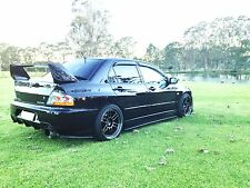 Rexpeed Carbon Side Skirt Extensions Mitsubishi EVO 7 8 8MR 9 GTA GSR