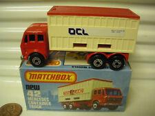Lesney Matchbox 1976 MB42 Beige OCL Mercedes Container Truck Unpaintd Base NuBxd