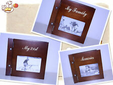 Sophisticated Styling Wooden Photo album -- Bundle Set ( any two ) -- On Sale !