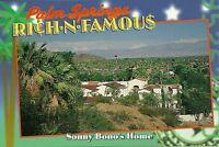 "Palm Springs CA ""Sonny Bono's Palm Springs Home"" Postcard California"
