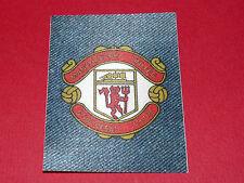 PANINI FOOTBALL 1978 ECUSSON JEAN DENIM MANCHESTER UNITED RED DEVILS TRAFFORD GB