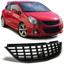 BLACK DEBADGED SPORTS BONNET GRILL FOR VAUXHALL CORSA D 10/06 -10/2010 NICE GIFT