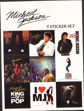 MICHAEL JACKSON: 9 STICKER SET **FREE SHIPPING** -bad, thriller, king of pop