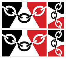 4 X BLACK COUNTRY FLAG VINYL CAR VAN IPAD LAPTOP STICKER