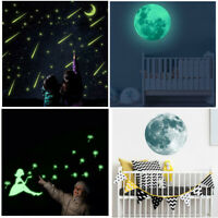 Luminous Glow in the Dark Moon Star Wall Sticker Home Art Decor Kids Room Decor