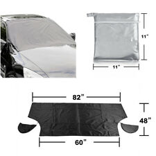 Car Truck Windshield Snow Cover Ice Frost Sun Shade Protector+Mirror Snow Covers