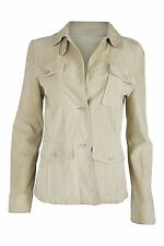 *JIL SANDER* CREAM SUEDE JACKET (38)