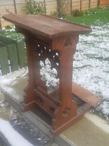 Antique very rare 19th Century Gothic Oak Church Lectern Prayer Kneeling Stand