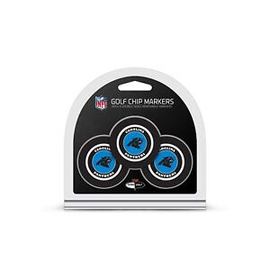 Carolina Panthers Golf Poker Chips (3-Pack) with 2-sided ball marker
