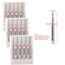 15Pcs Dental Tungsten Steel Carbide Burs Round fit Low Speed Handpiece RA 3 Burs