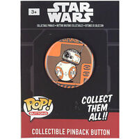 Funko Pinback Buttons - Star Wars Episode 7 - BB-8 (Orange Background) (1.25 in)